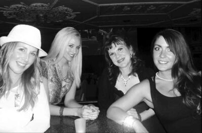 Sex and the City actors, from left: Marlo Boux as Carrie, Lacey Terwin as Samantha, Miss Trixy Firecracker as  Miranda and Jennifer David as Charlotte.