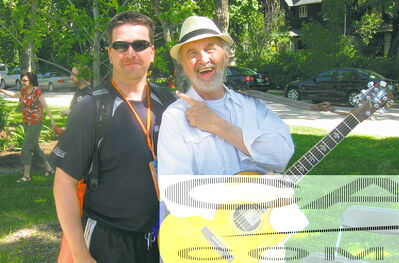 Cancer survivor and Challenge for LIfe participant Daniel Hawryluk, pictured here with Fred Penner.