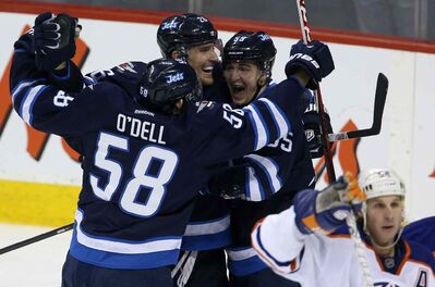 Winnipeg Jets rookie centre Scheifele (right) has been generating a lot of offence in recent weeks.