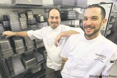 Two Winnipeg chefs overhauling 'horrible' food services at downtown university, creating training program with local producers, sustainable kitchen.