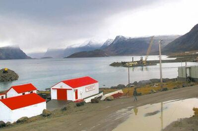 The restored Hudson Bay Company Post in Pangnirtung, Baffin Island, Nunavut.