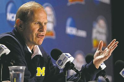 Michigan head coach John Beilein speaks to media.