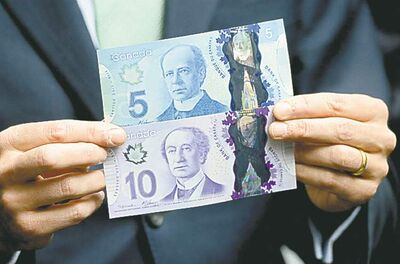A look at the new polymer $5 and $10 banknotes.