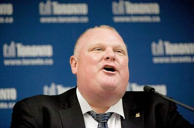 Toronto Mayor Rob Ford addressed the crack accusations after his executive committee urged him to speak out.