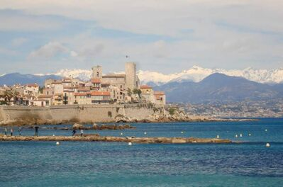 The port city of Antibes stands on the coast of Southern France, located between Cannes and Nice and is a gateway to the Riveria or Côte d'Azur.