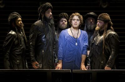 "Mark Cassius, Marcus Nance, Jeremy Kushnier, Josh Young, Sandy Winsby and Aaron Walpole appear in a scene from ""Jesus Christ Superstar."" THE CANADIAN PRESS/ho-Joan Marcus"