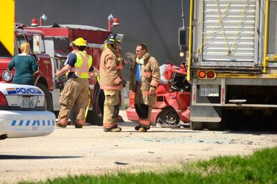 Two women were killed in a crash involving car and a semi trailer hauling hogs at the intersection of Highways 1 and 16 Wednesday afternoon.