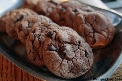 Chocolate Chip Hazelnut cookies