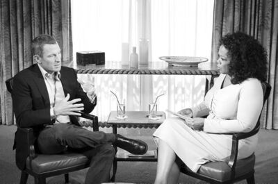 the associated press / Courtesy of Harpo Studios, Inc., George BurnsOprah Winfrey interviewed Lance Armstrong during a taping for �Oprah and Lance Armstrong: The Worldwide Exclusive.� The two-part program will air Thursday and Friday.