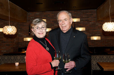 Margaret and Peter Lehmann while visiting western Canada in 2010.