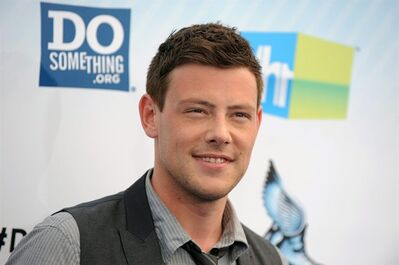 "FILE - This Aug. 19, 2012 file photo shows actor Cory Monteith at the 2012 Do Something awards in Santa Monica, Calif. Monteith, who shot to fame in the hit TV series ""Glee,"" died on July 13, 2013 at the age of 31. A tribute episodeof ""Glee,"" will air on Thursday, Oct. 10. (Photo by Jordan Strauss/Invision/AP, File)"