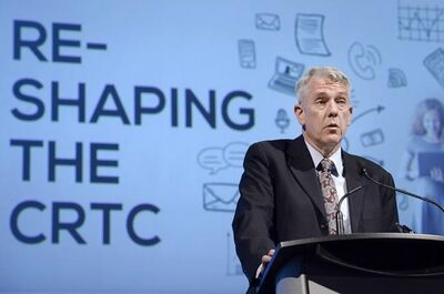 Jean-Pierre Blais, CEO of the Canadian Radio-television and Telecommunications Commission, addresses the Canadian Chapter of the International Institute of Communications, Wednesday, Nov. 16, 2016 in Ottawa. Blais says he did not reapply for the role, days before his five-year term comes to an end.THE CANADIAN PRESS/Justin Tang