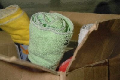 Small bits of plastic were seen by RCMP in a box of cleaning supplies which had been in Davis's Jeep.