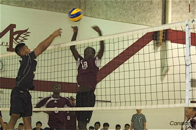 Bruce Akubukaka led his Daniel Mac team to the provincial final, and won a bundle of awards this volleyball season.