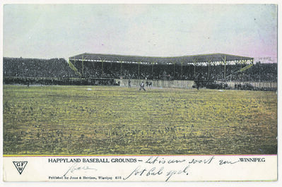 The extravagant baseball stadium at Happyland Park came alive in the evenings as the Winnipeg Maroons won 18 out of 22 games during their first professional season in 1906.