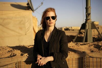 "This undated publicity film image provided by Columbia Pictures Industries, Inc. shows Jessica Chastain in""Zero Dark Thirty."" THE CANADIAN PRESS/AP, Columbia Pictures Industries, Inc., Jonathan Olley"