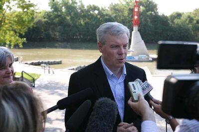 Greg Selinger held a press conference in 2009 saying he would use the floodway to keep the river walk open.