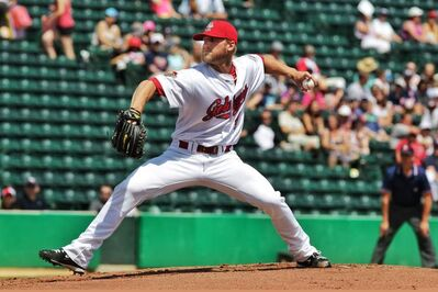 Southpaw Chris Salamida is expected to be the Goldeyes' starting pitcher tonight against the Wichita Wingnuts.