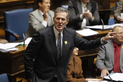 Tory Leader Brian Pallister is steaming mad about the NDP budget.
