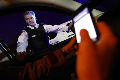 Winnipeg Police Insp, Jim Poole enforces cell phone usage in cars on October 7, 2013.