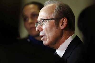 """Mayor Sam Katz (pictured) """"shouldn't have to be asked to resign, he should just go,"""" says Coun. Harvey Smith."""