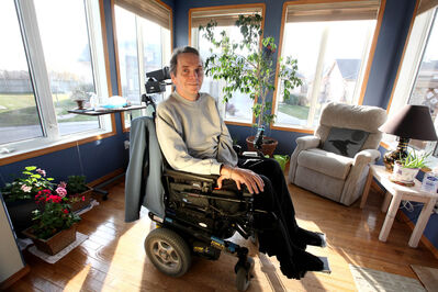 'I'll be first in line (for any new treatment),' says Winnipegger Victor Perrin, a former elementary school principal who was diagnosed with ALS in January 2008.