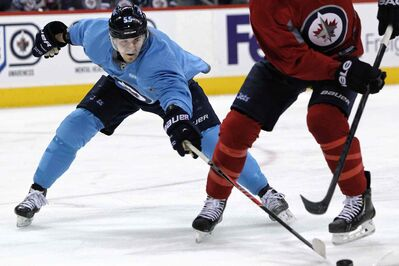 Mark Scheifele and his Winnipeg Jets teammates will get a true test tonight when they face the No. 1 Ducks in Anaheim.