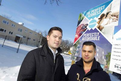 Tim Comack and Jonathon Freed, of Ventura Developments, at the condos' Stradbrook Avenue site.