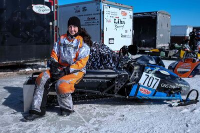 Amy Boyd, 25, from Rocky Mountain House, Alberta, has been sled racing for three years and was in Beausejour for the 52nd Annual Power Toboggan Championships on March 1 and 2nd.
