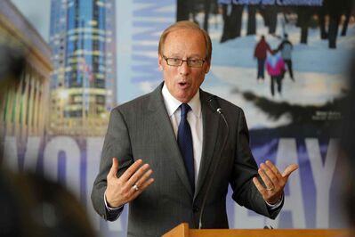 As of this moment, six Winnipeggers who are not Sam Katz (above) are poised to run for mayor. Katz has not committed one way or the other.