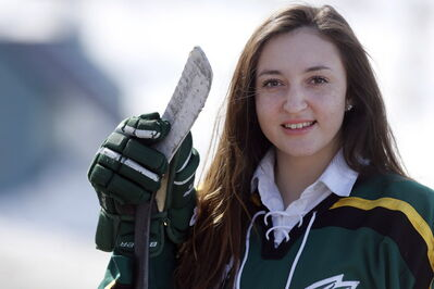 Balmoral Hall Blazers Ryleigh Houston, along with Christian Higham and Melissa Hunt, has been selected for Team Canada's women's hockey team.