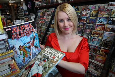 Winnipeg film producer Hope Nicholson checks out a couple of more current Canadian titles at Galaxy Comics and Collectibles in East Kildonan.
