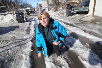Home Street resident Maria Manu received an insulting letter from her councillor's office after she complained about the lack of back lane plowing this winter.