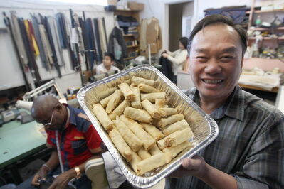 Tam Nguyen will no longer sell spring rolls for charity, ending a nearly 20-year-long tradition, because he has no licence.