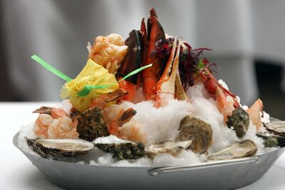 Splendid seafood tower at Terrace in the Park.