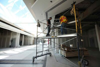 Renovations continue at Polo Park, with many new stores replacing Zellers.