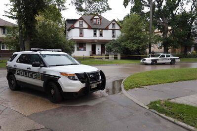 Winnipeg police are investigating an assault  incident, taping off a large two-and-a-half-storey duplex on Austin Street North at  Lorne Avenue.