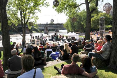 The rising Red River did little to deter the audience from enjoying the Prairie Barge Festival, featuring artists and artisans from Manitoba and Saskatchewan, Saturday at The Forks.