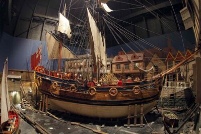 The Nonsuch, a full-size 17th century sailing vessel in the Manitoba Museum. (Boris Minkevich / Winnipeg Free Press)
