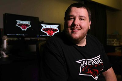 """After the first BaseLAN — a massive LAN party put on by local Winnipeg company All Your Base Online I went to — I knew,"" said Graeme Carlson. (Ruth Bonneville / Winnipeg Free Press)"