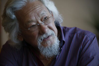 Environmentalist David Suzuki spoke to an audience of about 200 at Winnipeg's Metropolitan Theatre Sunday.