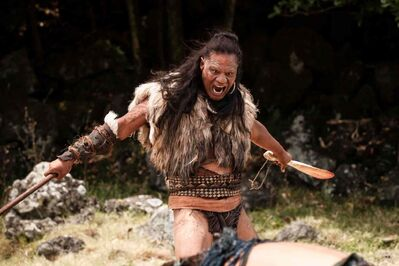 Lawrence Makaore in The Dead Lands (above), a perfect fit for Adam Beach and Jeremy Torrie's Bandwidth Theatre.