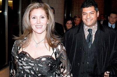 Helena Guergis, minister of state for status of women, with husband, former Tory MP Rahim Jaffer. His plea bargain this week and her air­port meltdown last month are hurting the party's brand, some Tories say.