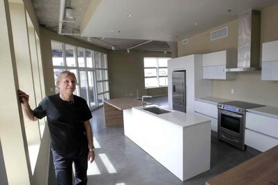 Nestor Budyk has spent years and tens of thousands of dollars converting it into an office/condo complex.
