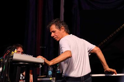 Chick Corea & the Vigil perform at the 2014 New Orleans Jazz & Heritage Festival at Fair Grounds Race Course on Sunday, May 4, 2014, in New Orleans.