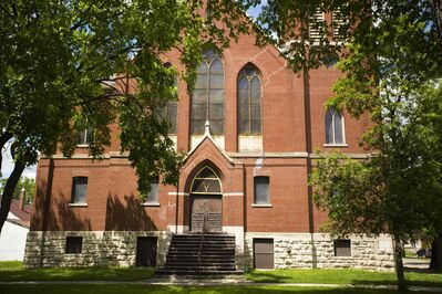 The Canadian Baptists of Western Canada have put St. Giles Church, at Burrows and Charles, up for sale. A church spokesman said removing the building's historical designation will make it easier to sell.