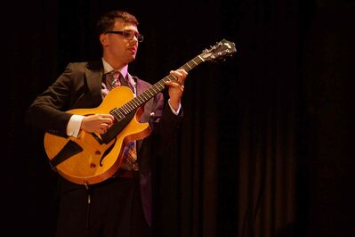 Alex Goodman's hastily recorded entry won him a spot in the semifinals of the Montreux Jazz Festival's guitar competition, which he eventually won.