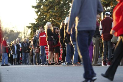 RUTH BONNEVILLE / WINNIPEG FREE PRESS</p><p>Liberal supporters wait in long lineups to get a chance to get inside the St. James Civic Centre in October to see their leader, Justin Trudeau speak. Ruth Bonneville / Winnipeg Free Press play</p><p>