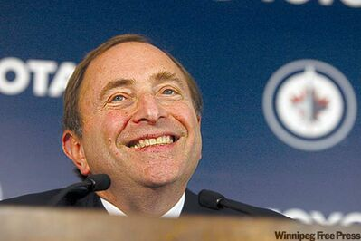 NHL commissioner Gary Bettman was Mr. Popular on Sunday afternoon as he addressed the media at the MTS Centre.