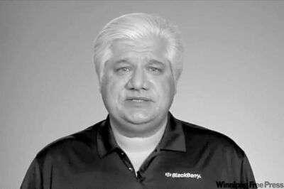 YOUTUBE IMAGE / THE CANADIAN PRESSRIM co-CEO Mike Lazaridis addresses BlackBerry users in a YouTube video.